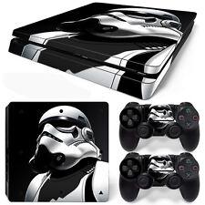 PS4 Slim Console and DualShock 4 Controller Skin Set - Storm Trooper Neck