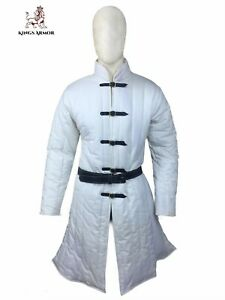 Medieval under armour medieval thick padded gambeson clothing armor larp