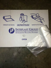 Lot 150 Trash Can Liners Garbage Bag Clear 12-16 Gallon 24 x 33, 8 MICRON