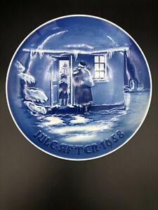 "Bing & Grondahl 1958 Christmas Plate, B&G SANTA CLAUS, 7"" Diameter"