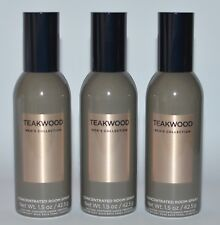 3 BATH & BODY WORKS TEAKWOOD MEN'S COLLECTION CONCENTRATED ROOM SPRAY MIST SPRAY