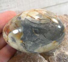 1 Polychrome Jasper Palm Stone Crystal Reiki Wicca Protection Healing 26261E