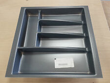 Cutlery Drawer Inserts/Tray (various sizes) Grey Anthracite (Hafele)