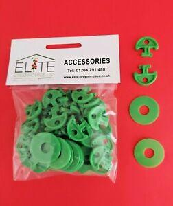 GENUINE Elite x 30 Greenhouse Plastic Lining Hooks Crop Heads. Attach Bubble/Net