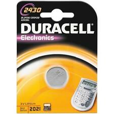 Pile bouton Duracell CR2430  3V LITHIUM DL2430 K2430L