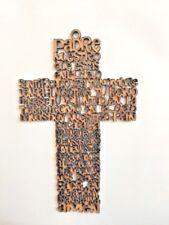 12 Piezas Cruz Oracion Padre Nuestro MDF/ Cross Silhouette Wall Hanging 12cm