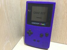 Nintendo Gameboy Color Console Grape Purple Missing Battery Cover Tested Nice