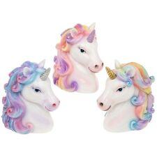 UNICORN Ceramic Unicorn Head MONEY BOX / 3 Colours / 15cm x 13cm / Free Delivery