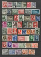 Norway 1943 - 1953 collection MH or fine used , 103 stamps