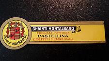 ETICHETTA LABEL da fiasco CHIANTI MONTALBANO  Vintage anni'50  cm 11 x 3 circa