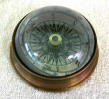 Compass Under Arched Dome From Glass Antique Brass