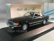 MINICHAMPS 1/43 MERCEDES 350 SL CABRIOLET HARD TOP 1971 BLACK ART. 430033451