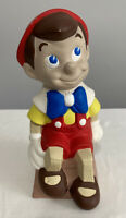 """Vintage Walt Disney Productions Pinocchio Coin Bank 9 1/2"""" Tall Not Plastic"""