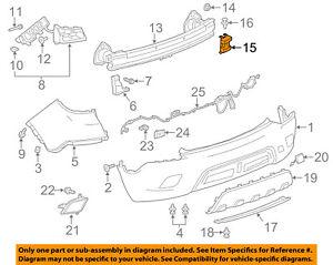 GM OEM Bumper-Foam Impact Absorber Bar Left 95270289