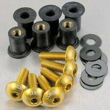 Pro-Bolt Aluminium Screen Bolt Kit - Gold SK6GE Yamaha FZS1000 Fazer 01-05