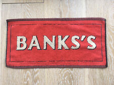 Banks's Brewery (Black Country) Bar Towel  80s Retro Man Cave