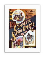TEATRO Savoia opere Sullivan Gilbert cover nuova tela art prints