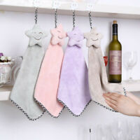 Hand Towel Super Soft Absorbent Microfiber Hanging Bathroom Kitchen Wash Towels