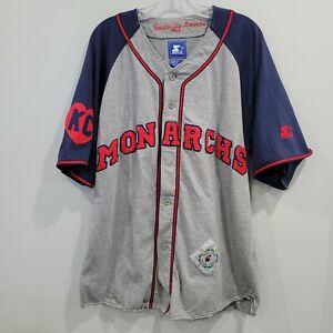 Rare VTG 90s Starter NLBM Negro League Kansas City Monarchs Jersey Mens XL