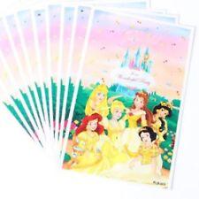 10x Party Goody Bags Plastic 16.5x25cm Girls Birthday Princess Princesses Castle