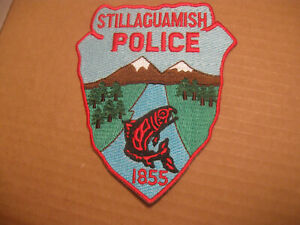 STILLAGUAMISH WASHINGTON TRIBAL POLICE PATCH (WITH RIVER FISH)