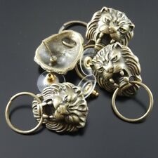 16pc Vintage Style Bronze Tone Cool Lion Head Earring Stud Jewelry Finding 34813