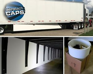 Aerodynamic Trailer Skirt (Set of 2) for Semi-Truck: SAVE FUEL! By AeroTech Caps