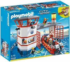 Playmobil City Action Coast Guard Station with Lighthouse 5539 (Damaged Box)