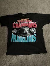 MLB World Series Vintage 1997 Florida Marlins Black Tshirt Size Large Regular