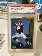 PEYTON MANNING 1998 TOPPS CHROME #165 ROOKIE CARD PSA 9 MINT ROOKIE COLTS ! !