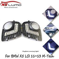LED DRL for BMW 2010-2013 E70 X5-Series M-tech Daytime Running Lights Fog Lamp