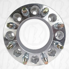 """CHEVY 8 Lug 6.5"""" To 8 x 6.5"""" Wheel Adapter 2"""" Spacer 14mm1.5 Stud & Nut"""