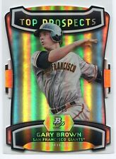 2012 Bowman Platinum Top Prospects Die Cut GB Gary Brown Rookie 21/25