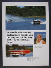 1988 Ski Supreme Competition Ski Boat photo vintage print Ad
