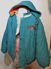 """Miami Dolphins Parka Starter NFL L 44"""" chest Thick & Warm Embroidered"""