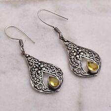 "Citrine  Handmade Drop Dangle Earrings Jewelry 1.88"" AE 55241"