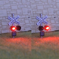 1 x N scale model railroad grade crossing signal light LED made silver #csnSL2X