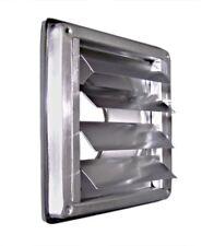 Edelstahl Abluftgitter Lüftungsgitter DN 125 mm mit beweglichen Lamellen