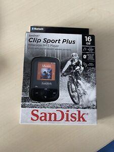 SanDisk Clip Sport Plus Tragbarer MP3 Player Bluetooth 16GB OVP