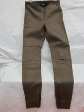 Ralph Lauren Polo Brown Lamb Leather Leggings Pant Size 10