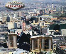 Aerial View Las Vegas, Nevada, Strip Hotels & Casinos, Mandalay Bay etc Postcard