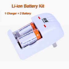 DC Charger + 2Pcs 3V CR2 CR-2 15270 Lithium Li-ion Rechargeable 200mAh Battery
