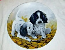 Vintage Puppy Dog Knowles Collectibles Collectors Plate English Setters Decor