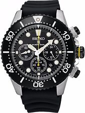 NEW MEN'S SEIKO PROSPEX SOLAR CHRONOGRAPH 200M AIR DIVERS SPORTS WATCH SSC021P1