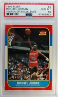 1996-97 FLEER DECADE OF EXCELLENCE MICHAEL JORDAN #4 1986 Style, Graded PSA 10
