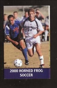 Texas Christian Horned Frogs--2000 Soccer Pocket Schedule--Cook Children's