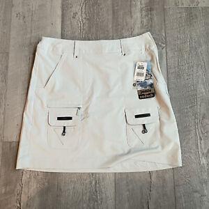 "Jamie Sadock Airwear Side Zip 18"" Pull-On Golf Skort Gray Womens Size 0"