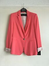 Zara Pink Single Breasted Blazer Size S