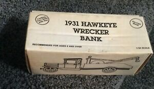 NEW ERTL 1931 HAWKEYE WRECKER DIE CAST BANK 1/34