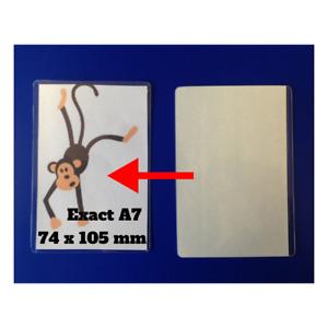 A7 Size Self Seal Laminating Pouches Self Adhesive Cold Seal Laminating Sheets